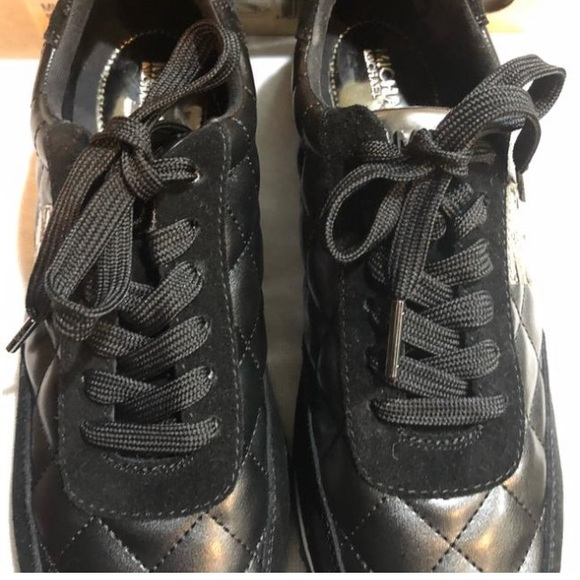 Michael Kors Shoes - Michael Kors Black quilted sneakers 5.5 new